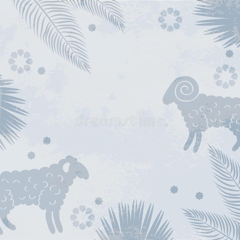 Islamic background for muslims holidays vector illustration