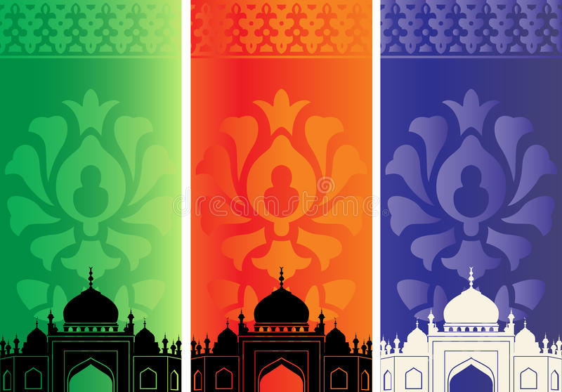 Download Islamic Banners With Mosque Stock Vector - Image: 24397745