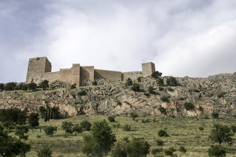Islamic castles in Andalusia. Castillo de Santa Catalina in the province of Jaen, Andalusia stock images
