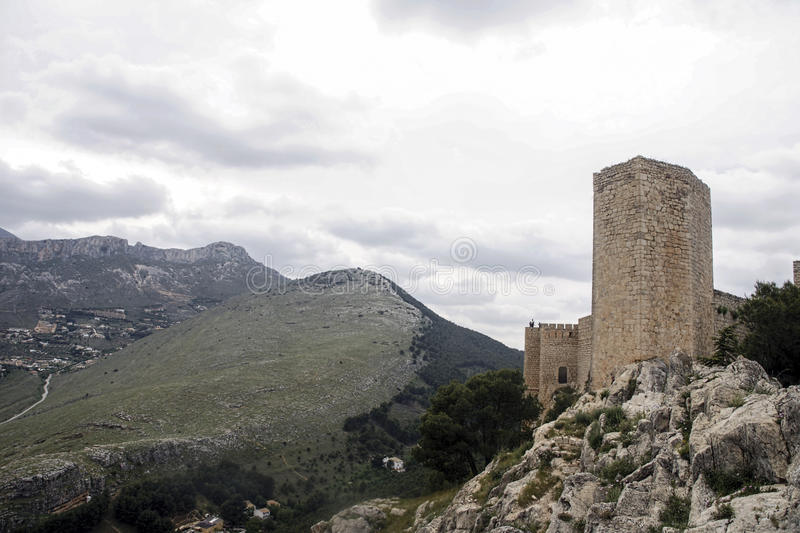 Islamic castles in Andalusia. Castillo de Santa Catalina in the province of Jaen, Andalusia stock photography