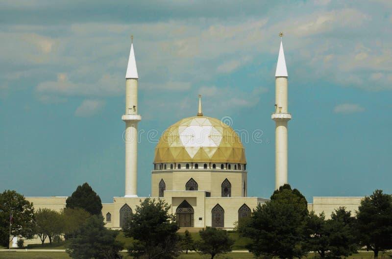 Islamic Center of Toledo Ohio-Centered. Islamic Center of Toledo Ohio July 23, 2015 with blue sky and clouds royalty free stock photo