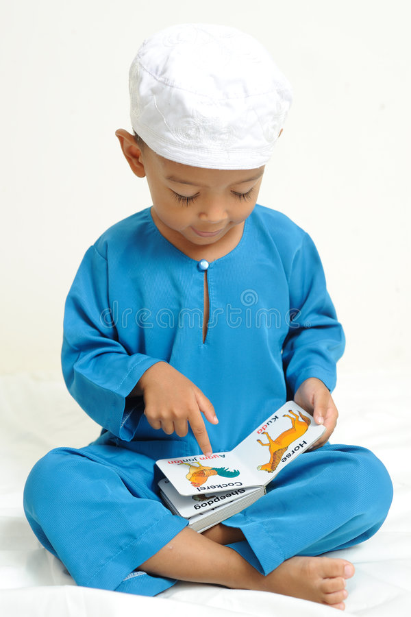Download Islamic Children  Were Learning Stock Photo - Image: 7281000