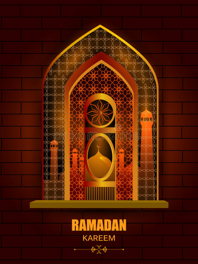 Download Islamic Design Mosque Door And Window For Ramadan Kareem Happy Eid Celebration Background Stock Vector & Islamic Design Mosque Door And Window For Ramadan Kareem Happy Eid ...