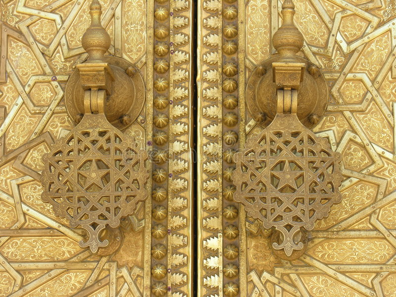 Islamic doors stock images