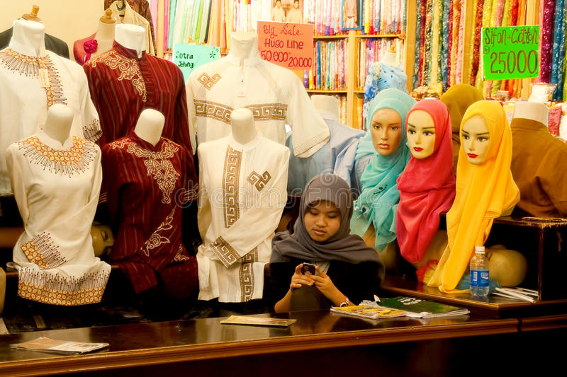 Islamic Fashion Bandung Indonesia 2011 royalty free stock photography