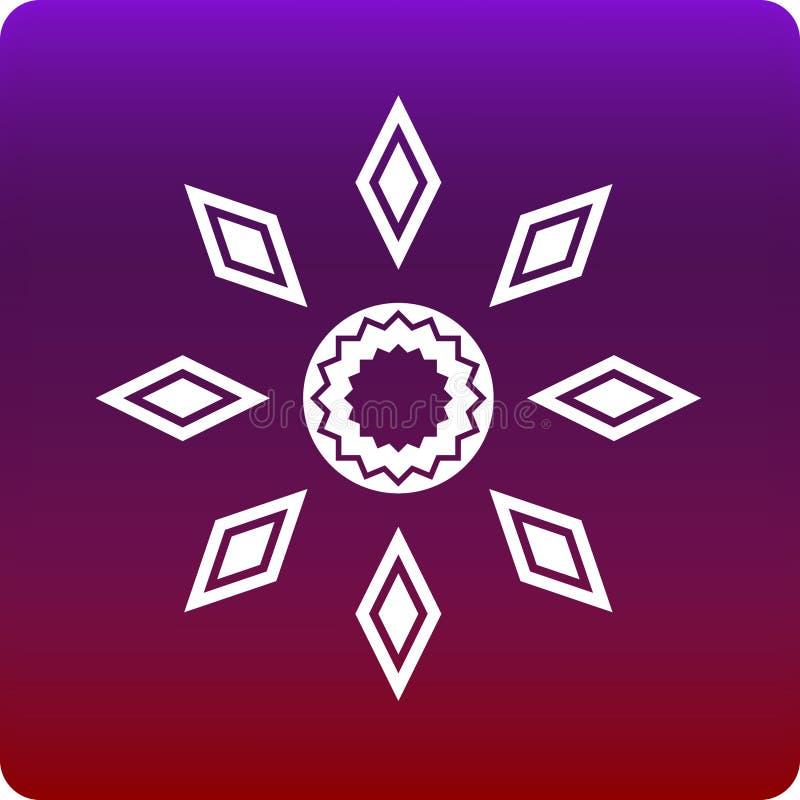 Islamic flower royalty free illustration