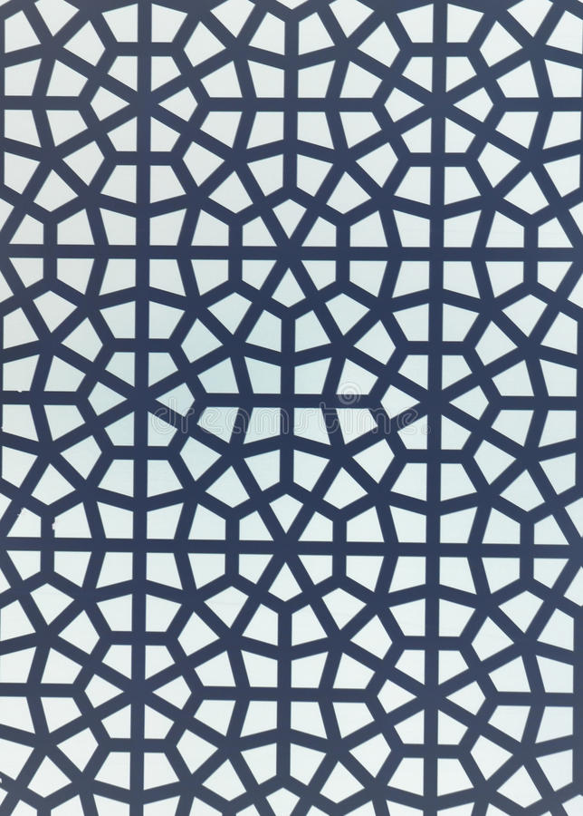 Islamic Geometric Pattern. White and grey stock image