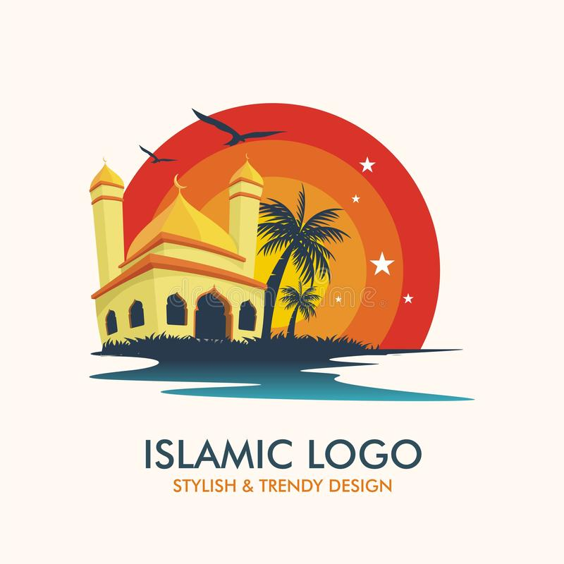 Islamic Logotype with colorful trendy design stock photo