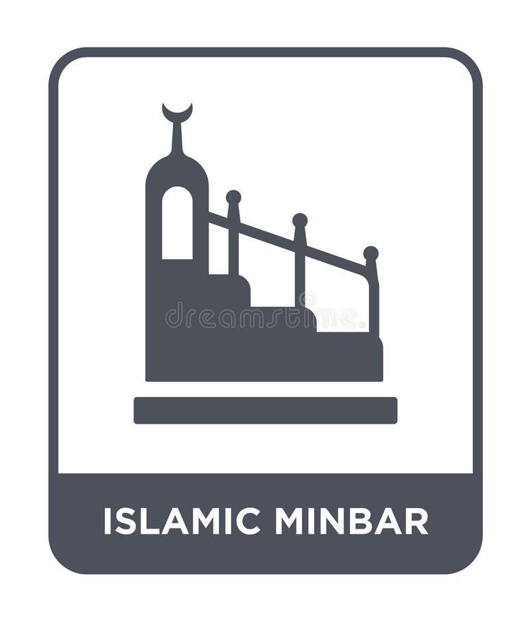 islamic minbar icon in trendy design style. islamic minbar icon isolated on white background. islamic minbar vector icon simple royalty free illustration