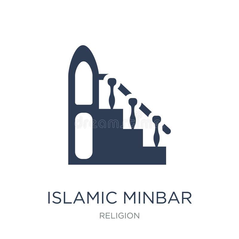 Islamic Minbar icon. Trendy flat vector Islamic Minbar icon on w royalty free illustration