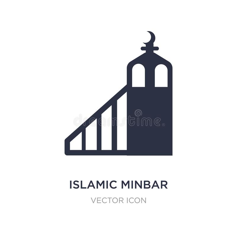 islamic minbar icon on white background. Simple element illustration from Religion concept royalty free illustration