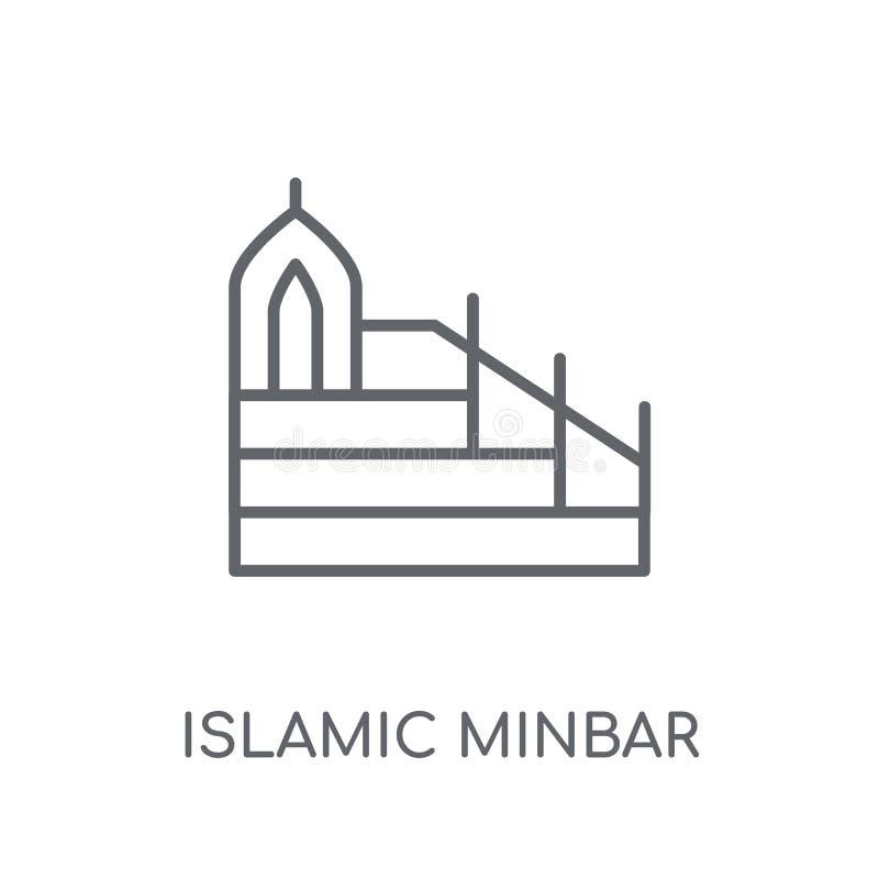 Islamic Minbar linear icon. Modern outline Islamic Minbar logo c vector illustration