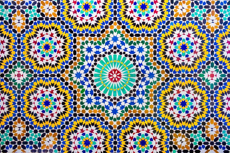 Islamic mosaic Moroccan style useful as background royalty free stock images