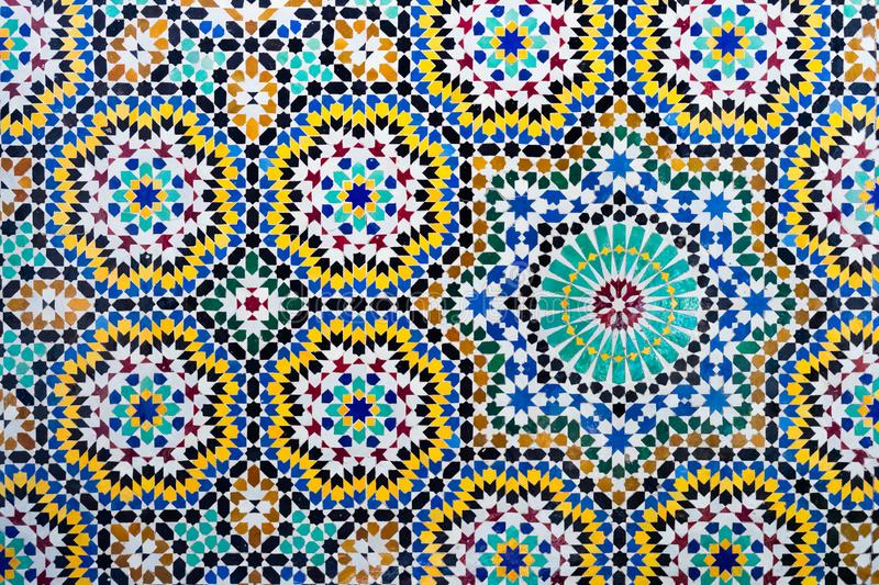 Islamic mosaic Moroccan style useful as background stock photo