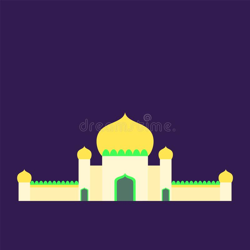 Islamic mosque isolated flat design with pastel colorful,vector illustration mosque for ramadan kareem and eid mubarak stock photo