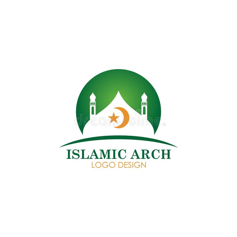 Islamic mosque logotype vector design royalty free illustration