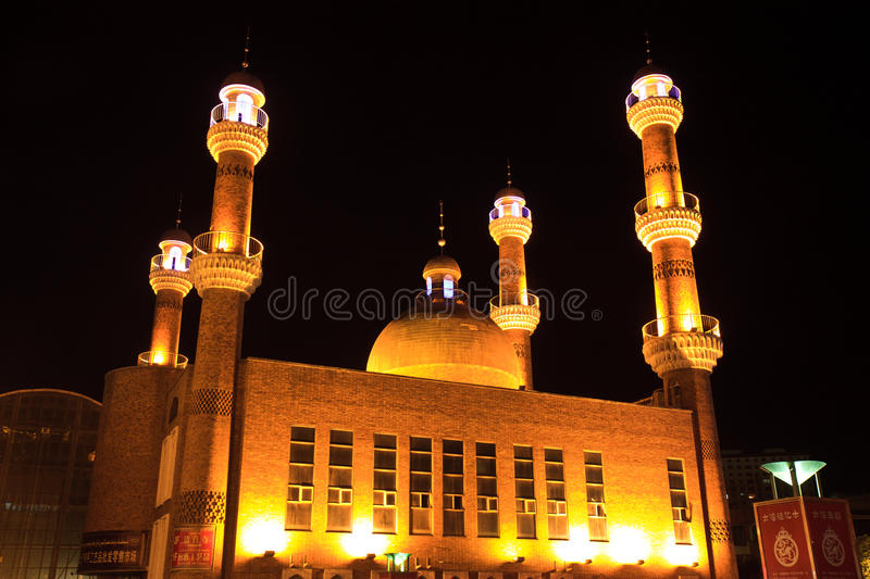 Download Islamic Mosque In Urumqi, Xinjiang China Editorial Photography - Image of color, night: 21375692