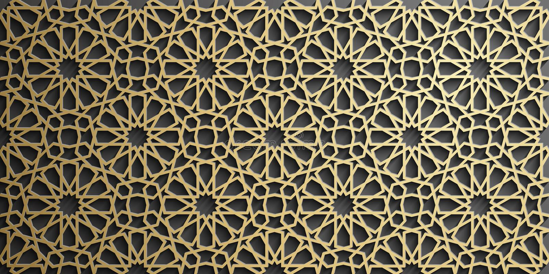 Islamic ornament vector , persian motiff . 3d ramadan islamic round pattern elements . Geometric circular ornamental royalty free stock photography