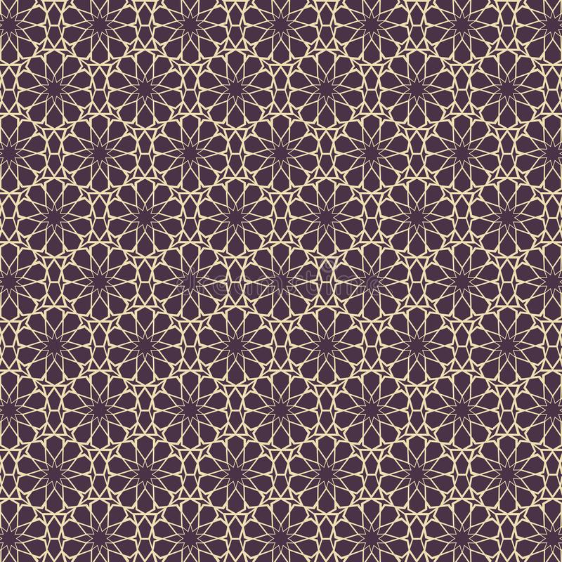 Islamic Pattern Element Concept Template With Gold Vintage