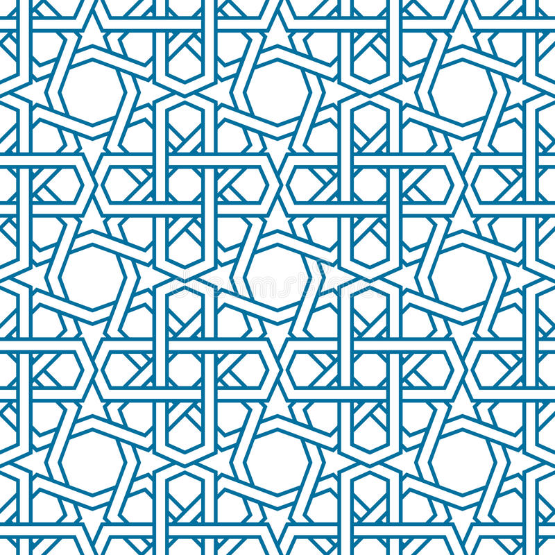 Islamic pattern vector. Seamless traditional royalty free illustration