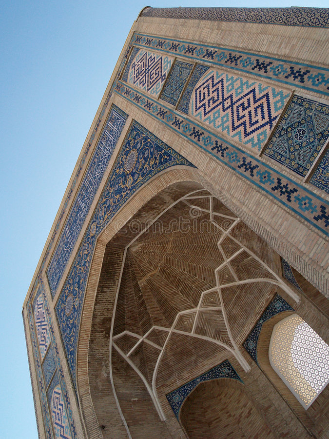 Islamic patterns on an arc stock images