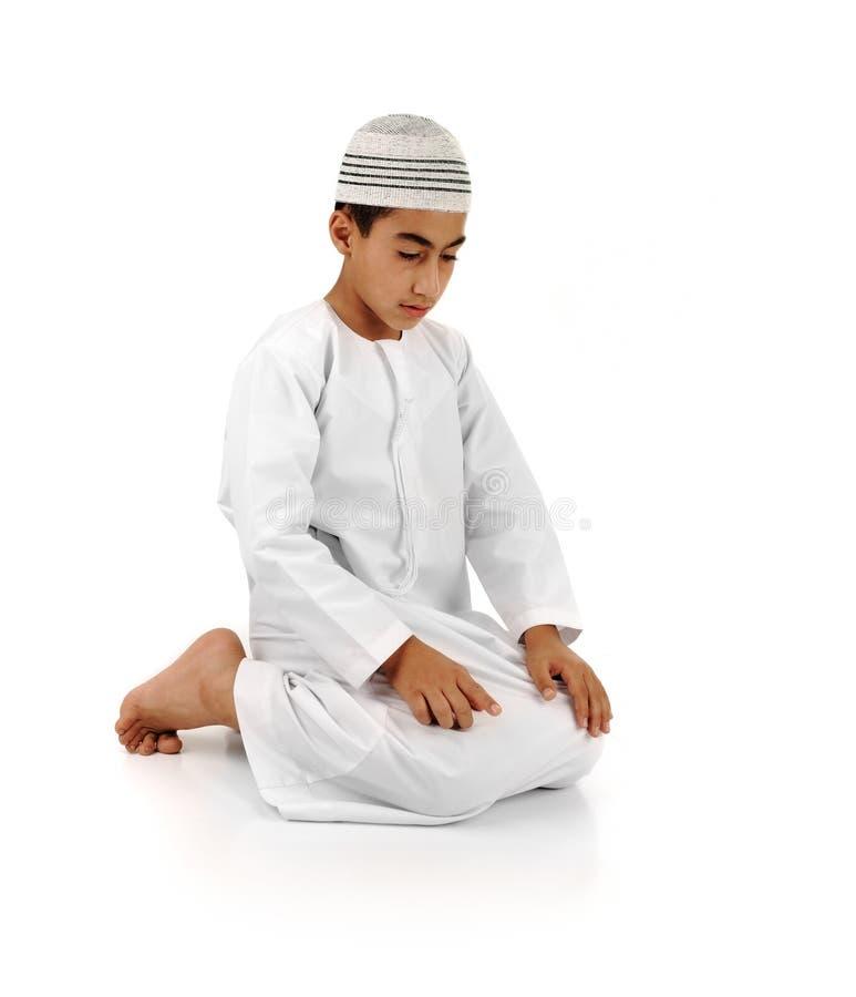 Islamic pray explanation stock image