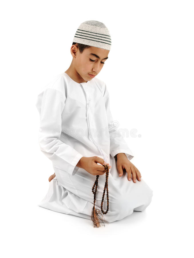 Islamic pray explanation full serie royalty free stock photo