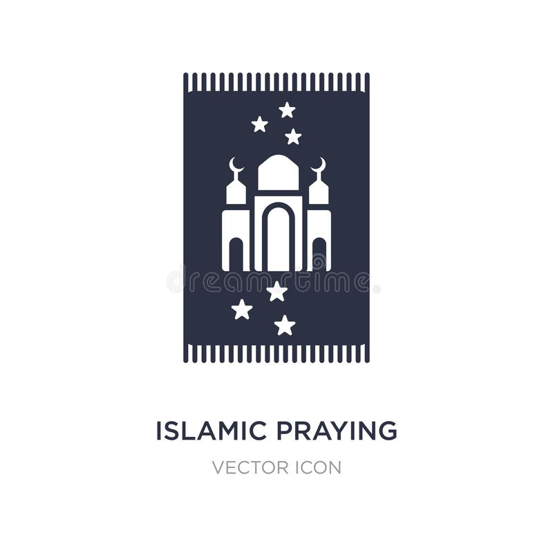islamic praying carpet icon on white background. Simple element illustration from Religion concept stock illustration