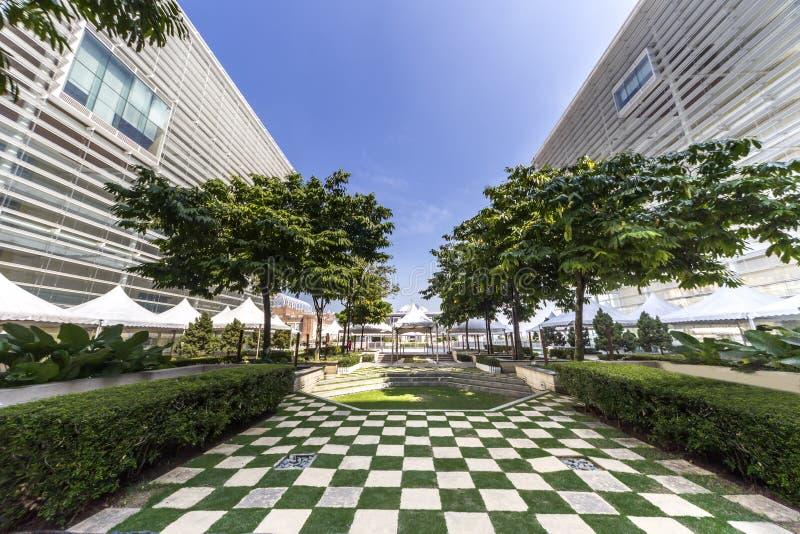 Islamic public garden design stock images