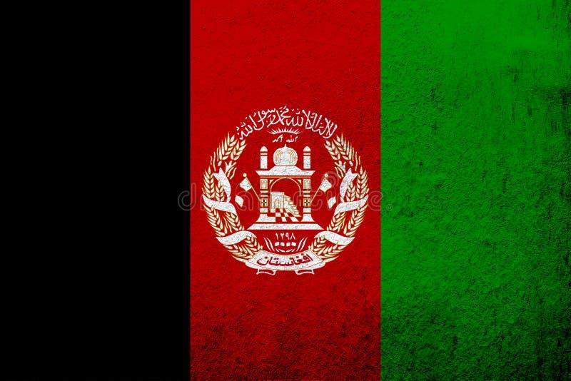 Islamic Republic of Afghanistan national flag. Grunge background royalty free illustration