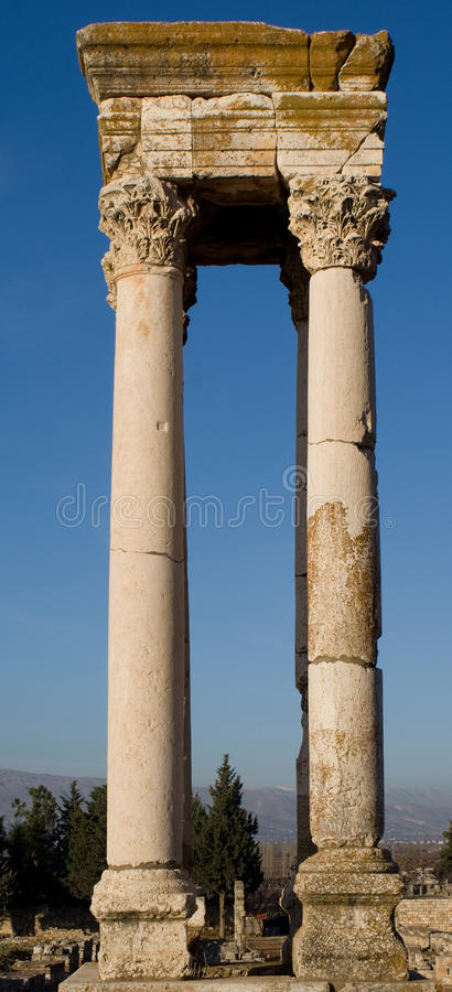 Islamic Ruins in Anjar Lebanon royalty free stock photo