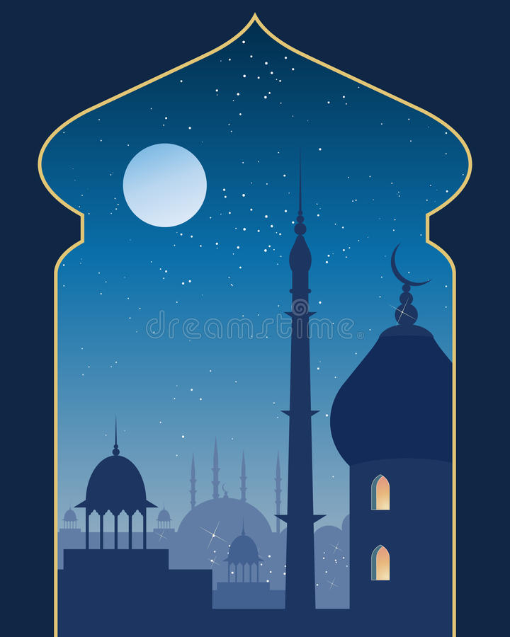 Download Islamic scene stock vector. Image of evening, illustration - 27946394