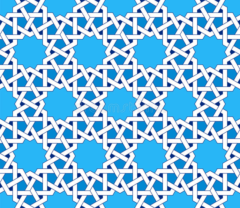 Islamic seamless pattern. Oriental geometric ornaments, traditional arabic art. stock illustration