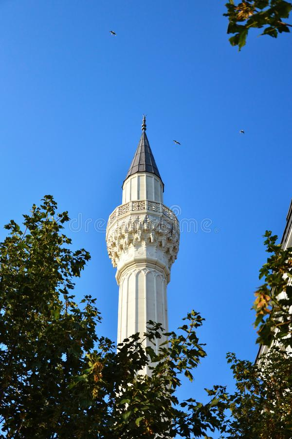 Islamic tower of a minaret stock images