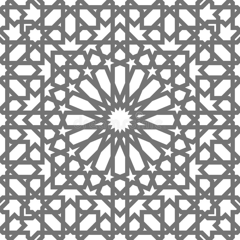 Islamic vector geometric ornaments, traditional arabic art. Oriental seamless pattern. Turkish, Arabian, Moroccan tile vector illustration