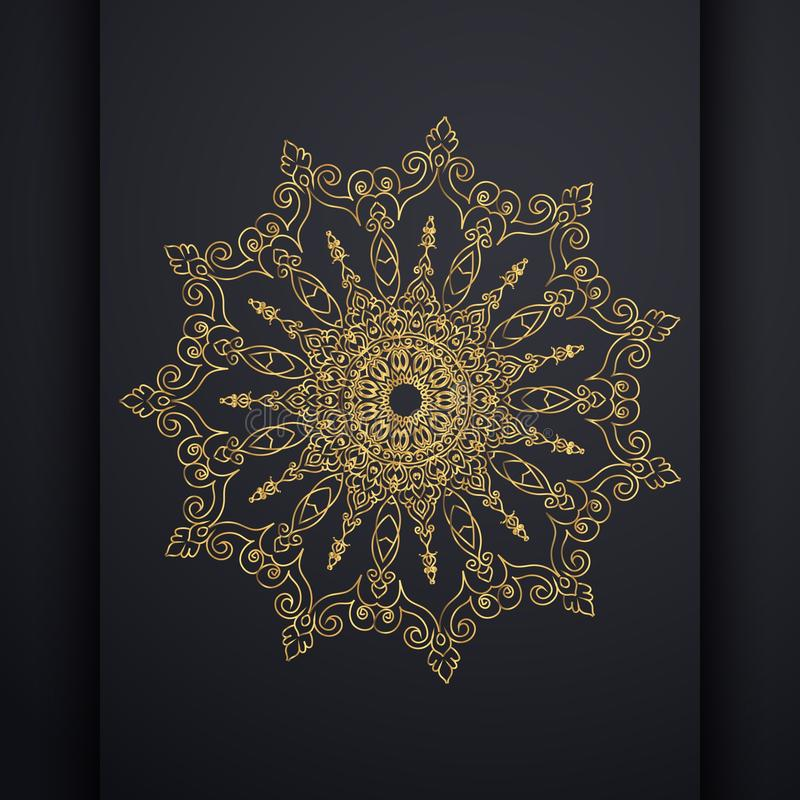 Islamic vertical banners with arabesque mandala for greeting card, poster and voucher. royalty free illustration