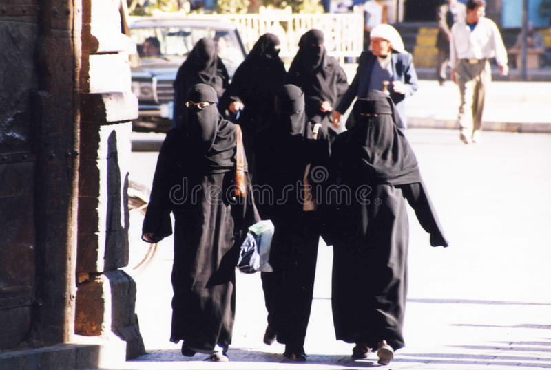 Islamic women stock images