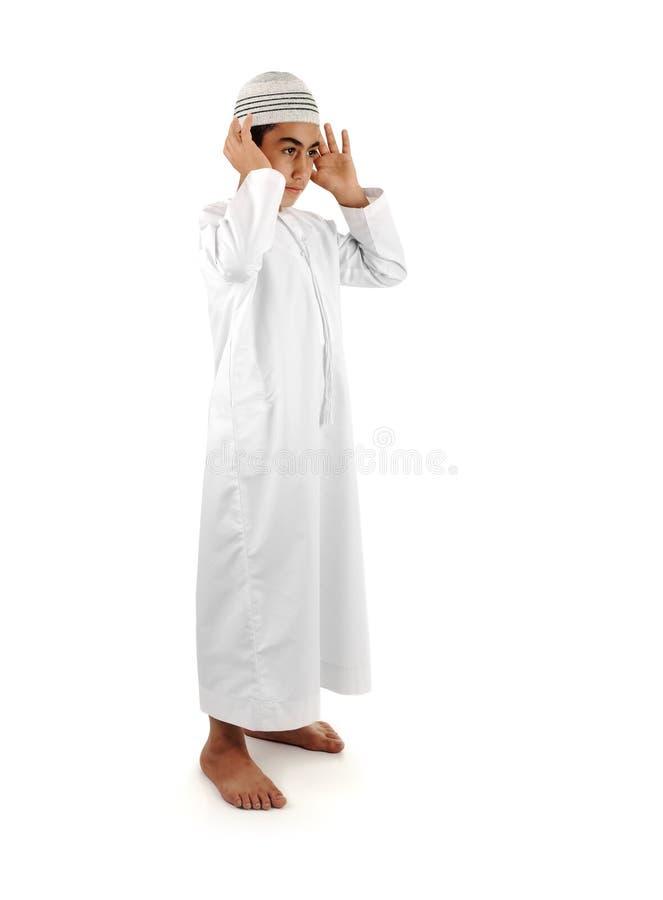 Islamico preghi il serie completo di spiegazione fotografia stock libera da diritti