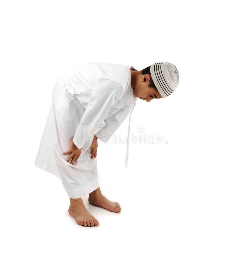Islamico preghi il serie completo di spiegazione immagine stock