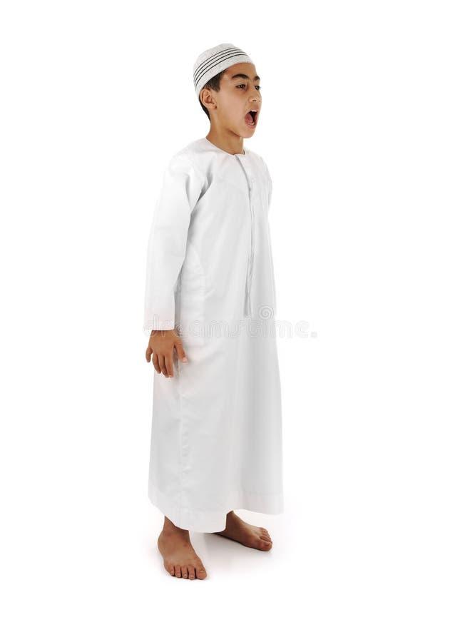 Islamico preghi il serie completo di spiegazione immagini stock