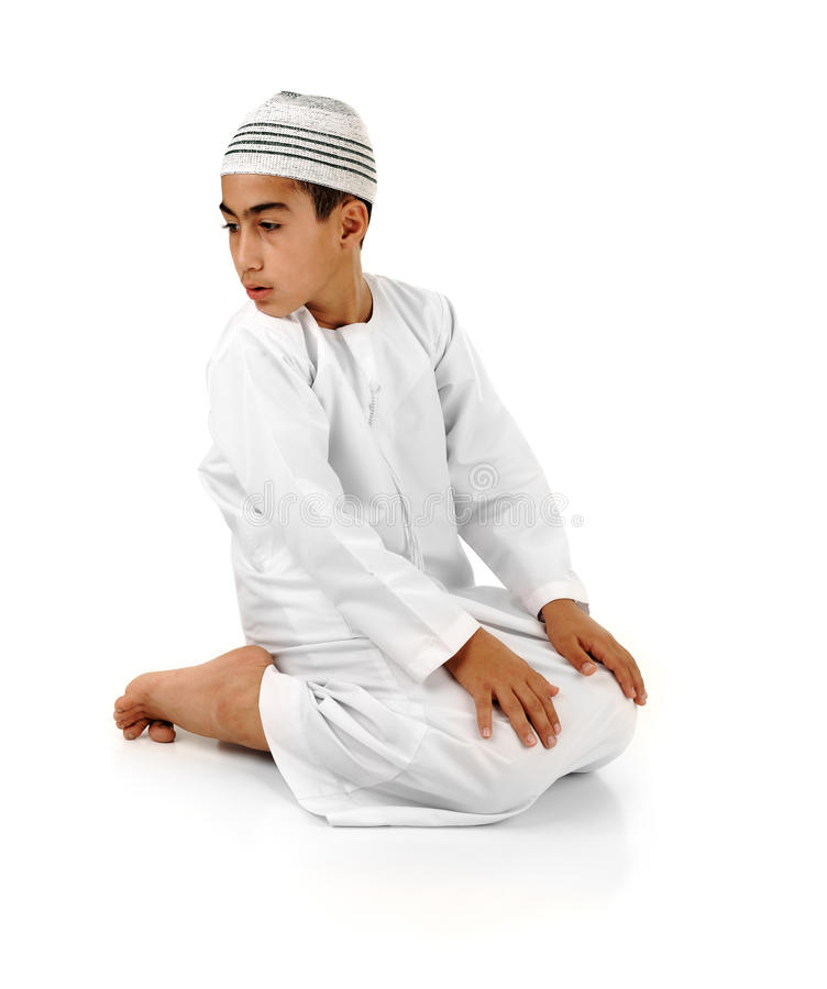 Islamico preghi la spiegazione fotografia stock