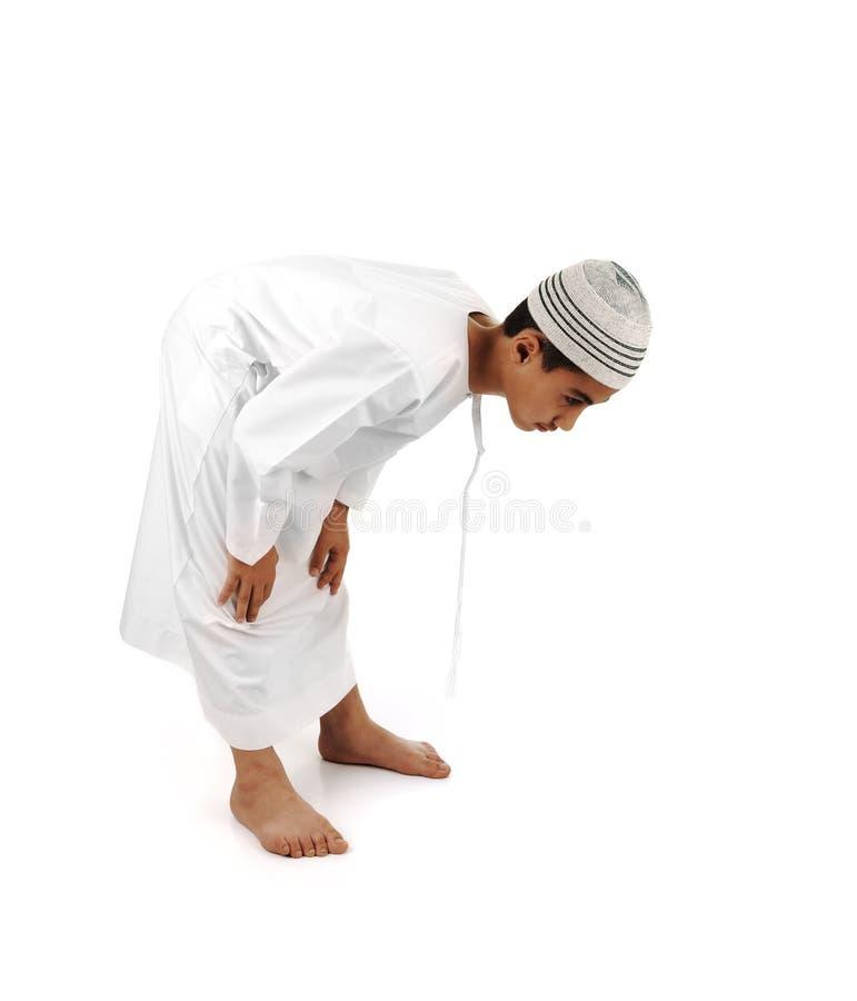 Islamique priez le plein serie d'explication photos stock