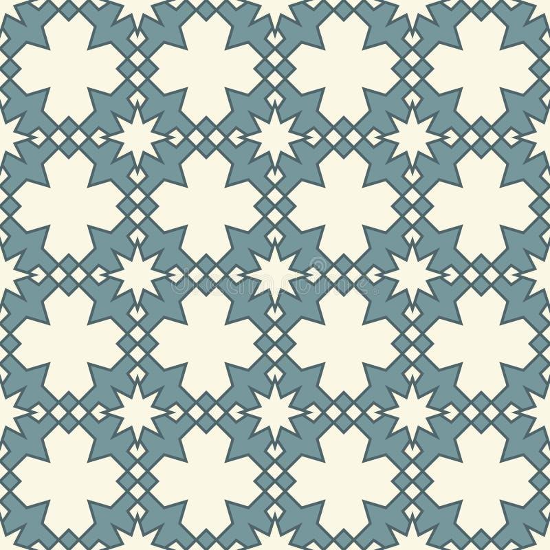 Islamische geometrische Verzierung Arabisches nahtloses Muster stock abbildung