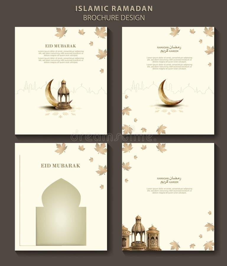 Islamische Grußramadan-kareem Broschürenschablonen entwerfen stock abbildung
