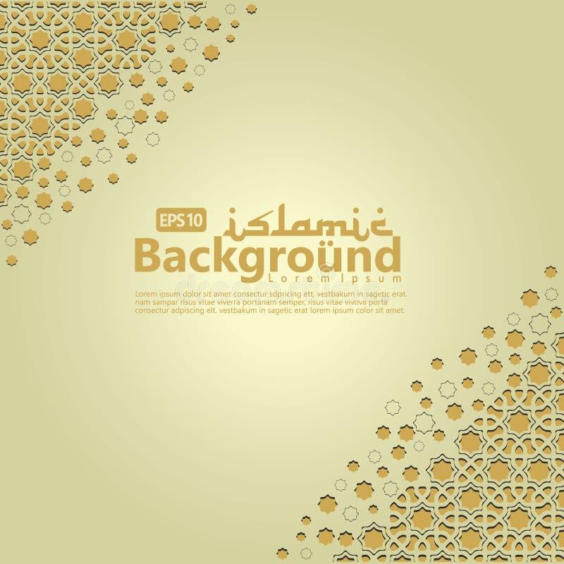 Islamische Hintergrundschablone für Ramadan-kareem, Ed Mubarak mit islamischer Verzierung vektor abbildung