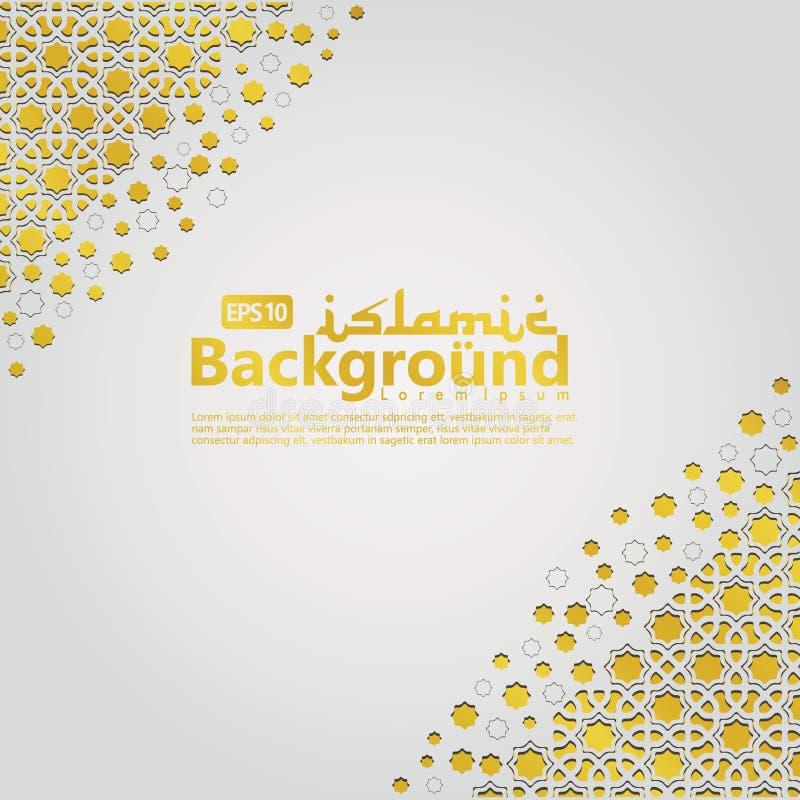 Islamische Hintergrundschablone für Ramadan-kareem, Ed Mubarak mit islamischer Verzierung lizenzfreie abbildung