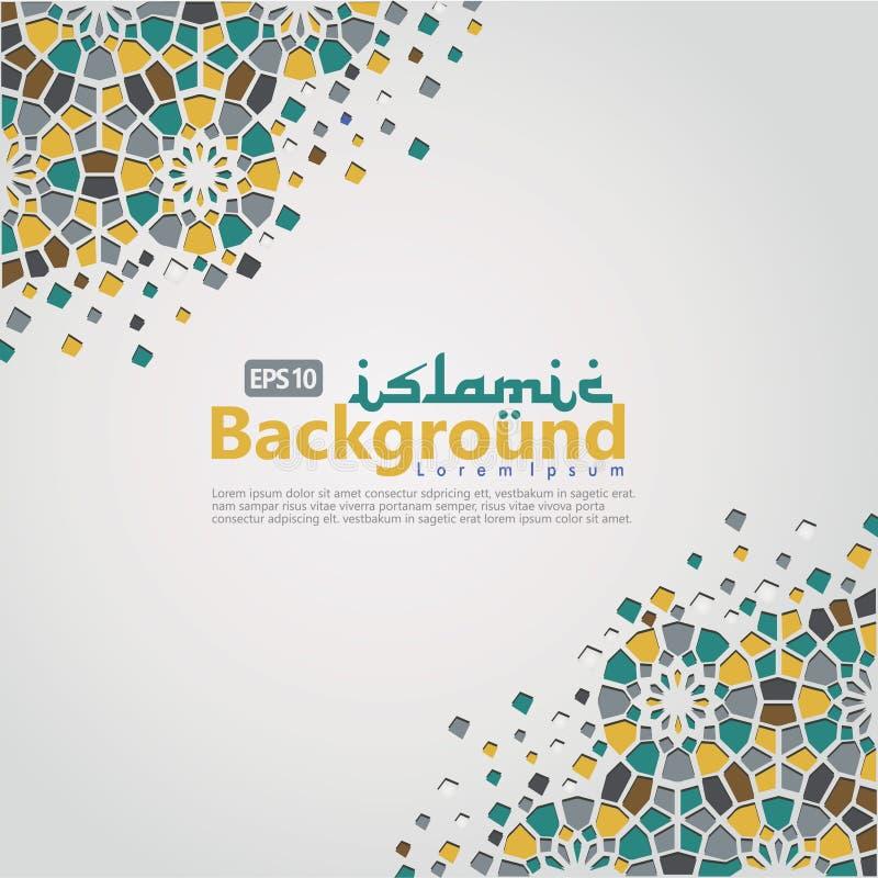 Islamische Hintergrundschablone für Ramadan-kareem, Ed Mubarak mit islamischer Verzierung lizenzfreies stockbild