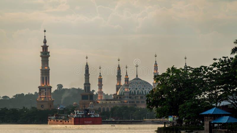 Islamische Mittelmoschee Samarinda, Indonesien stockbild