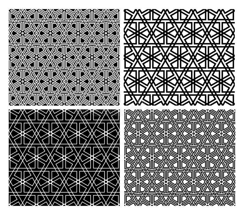 islamische mosaik muster vektor abbildung illustration von sterne 24754335. Black Bedroom Furniture Sets. Home Design Ideas