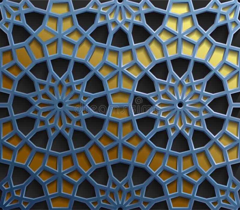 islamische orientalische muster, nahtlose arabische
